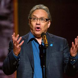 """FILE - This Oct. 2, 2010 file photo shows Lewis Black performing at Comedy Central's  """"Night Of Too Many Stars: An Overbooked Concert For Autism Education"""" at the Beacon Theatre in New York. Black will bring his trademark frustration and high blood pressure style to the Richard Rodgers Theater from Oct. 9-14 and and Oct. 19-20. The show, currently on tour, is called """"Running on Empty."""""""