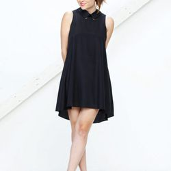 Geri Hirsch looking adorable in the Because I'm Addicted x Lovers + Friends Satisfaction dress in black.