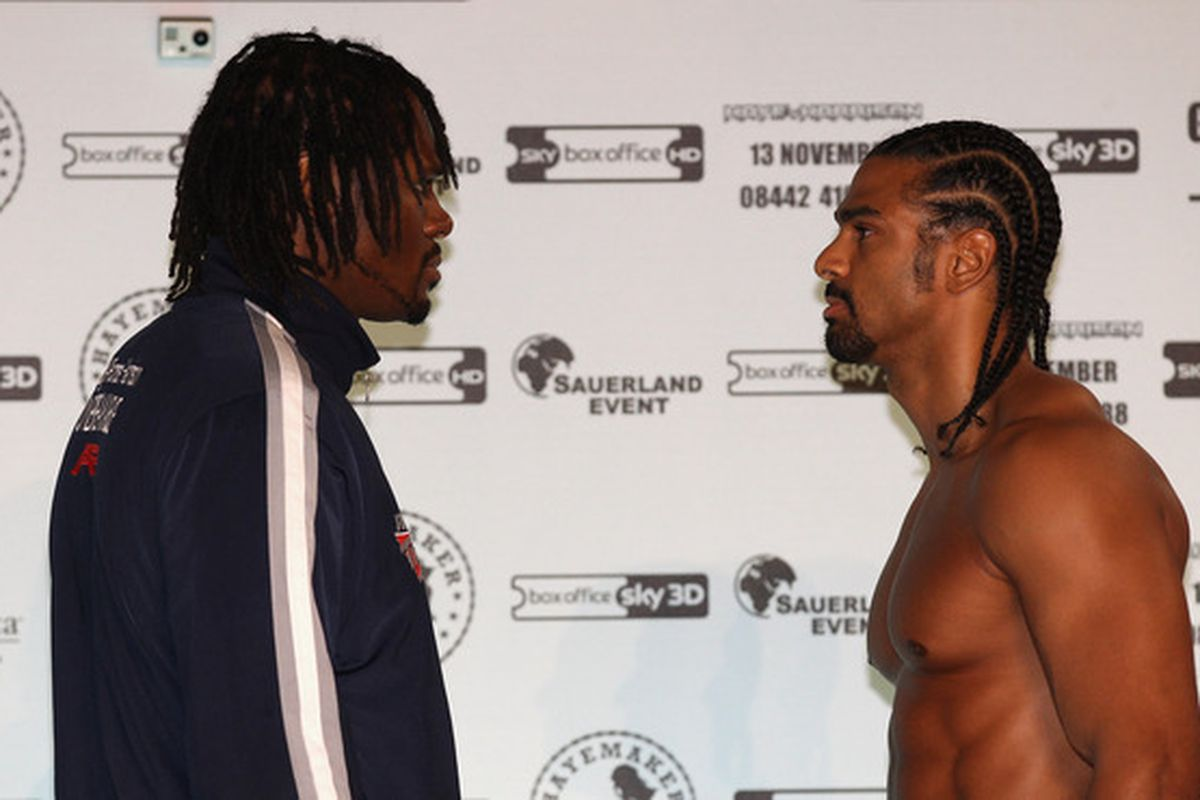 Last November's David Haye vs Audley Harrison letdown is part of the reason Sky Sports has decided to ditch PPV boxing. (Photo by Alex Livesey/Getty Images)