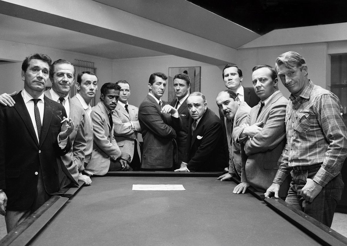 The cast of the original Ocean's 11, which came out in 1960.