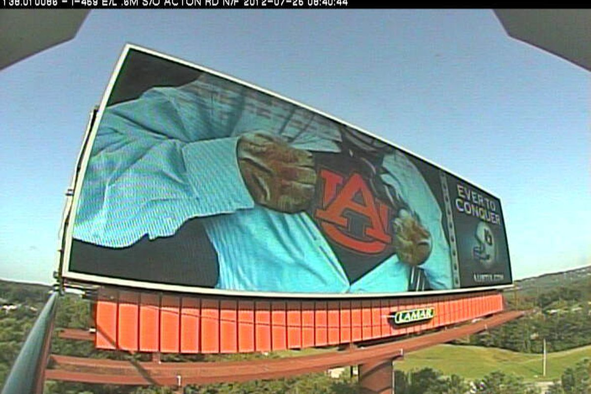 Ever To Conquer - The new Auburn billboards are a hit. Photo courtesy of al.com