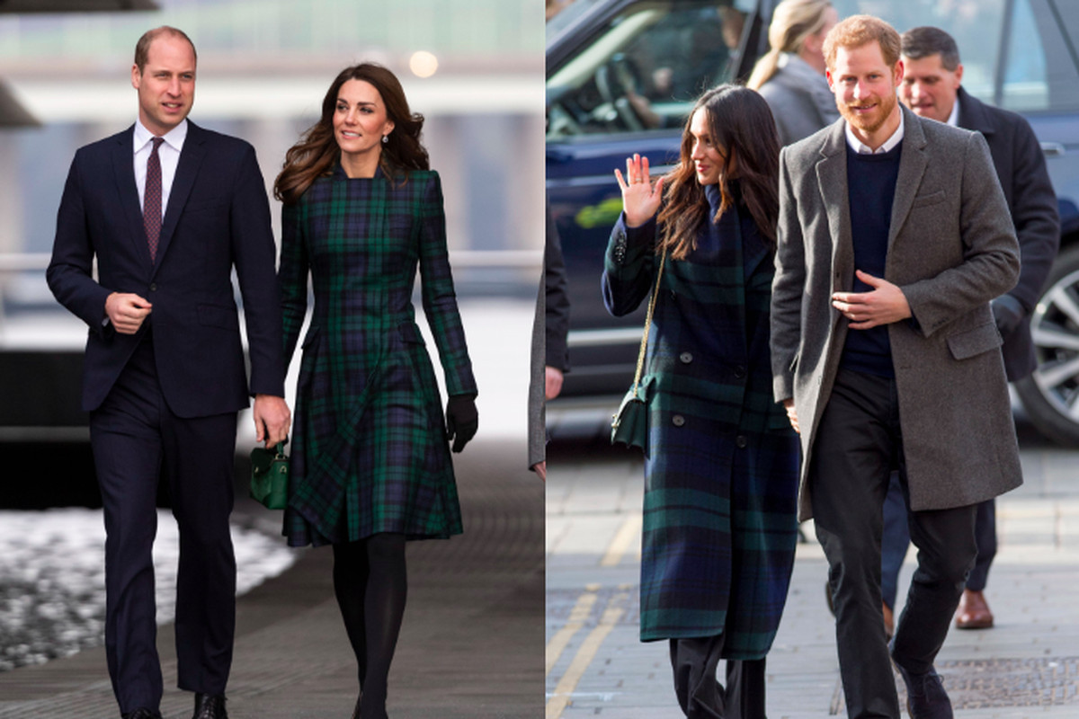 8913cae3222 Prince William and Kate Middleton in Scotland in January 2019  Meghan  Markle and Prince Harry in Scotland in February 2018. L  Karwai Tang Getty  Images  ...