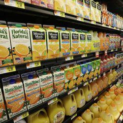 Orange Juice is displayed in a Bentonville, Ark., Wal-Mart Neighborhood Market Thursday, June 4, 2015.
