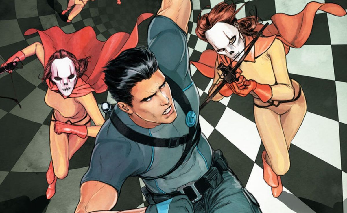 From the cover of an issue of Grayson, DC Comics.