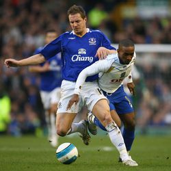 Jagielka during the 2007 season, soon after he signed for Everton