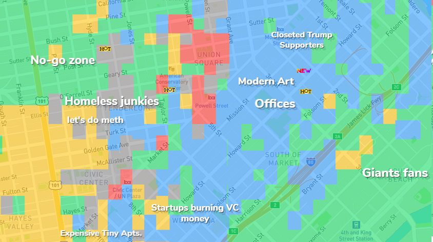 Offensive SF map shows what people really think of city ...