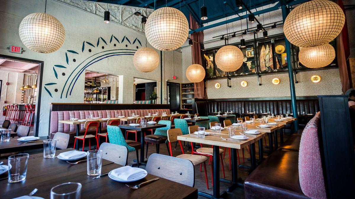 Inside the dining room at Bar Mercado
