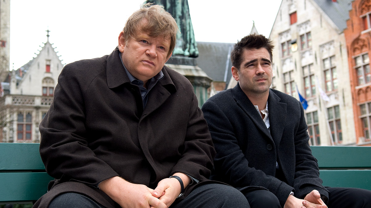Brendan Gleeson and Colin Farrell in In Bruges.