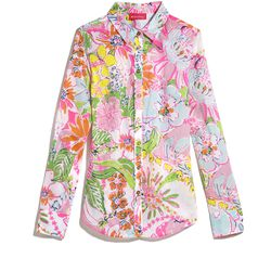 'Nosie Posey' button down shirt, $24, XS-XXL, 1X-3X (plus-size online only)