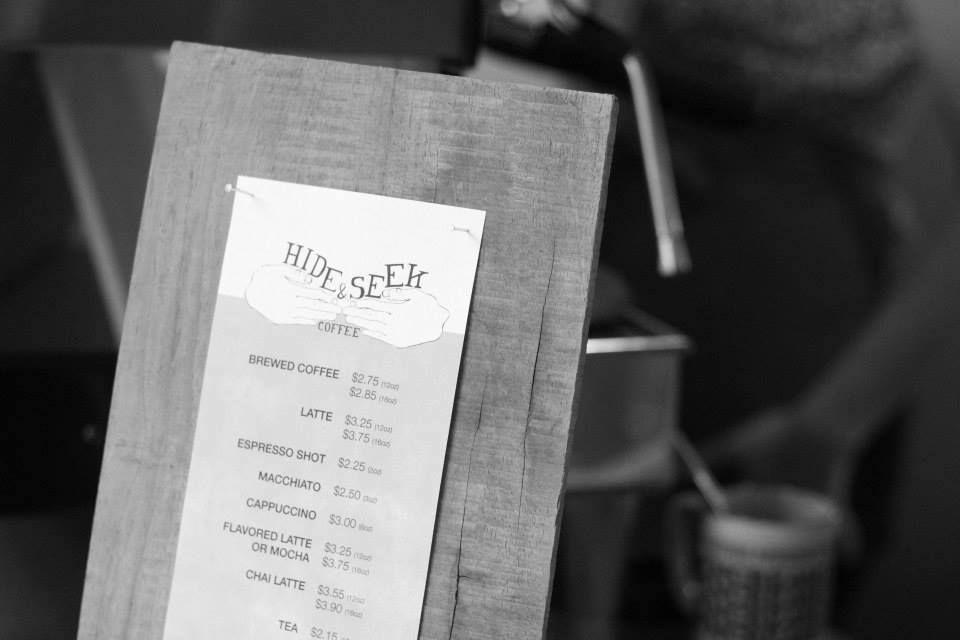Hide and seek menu