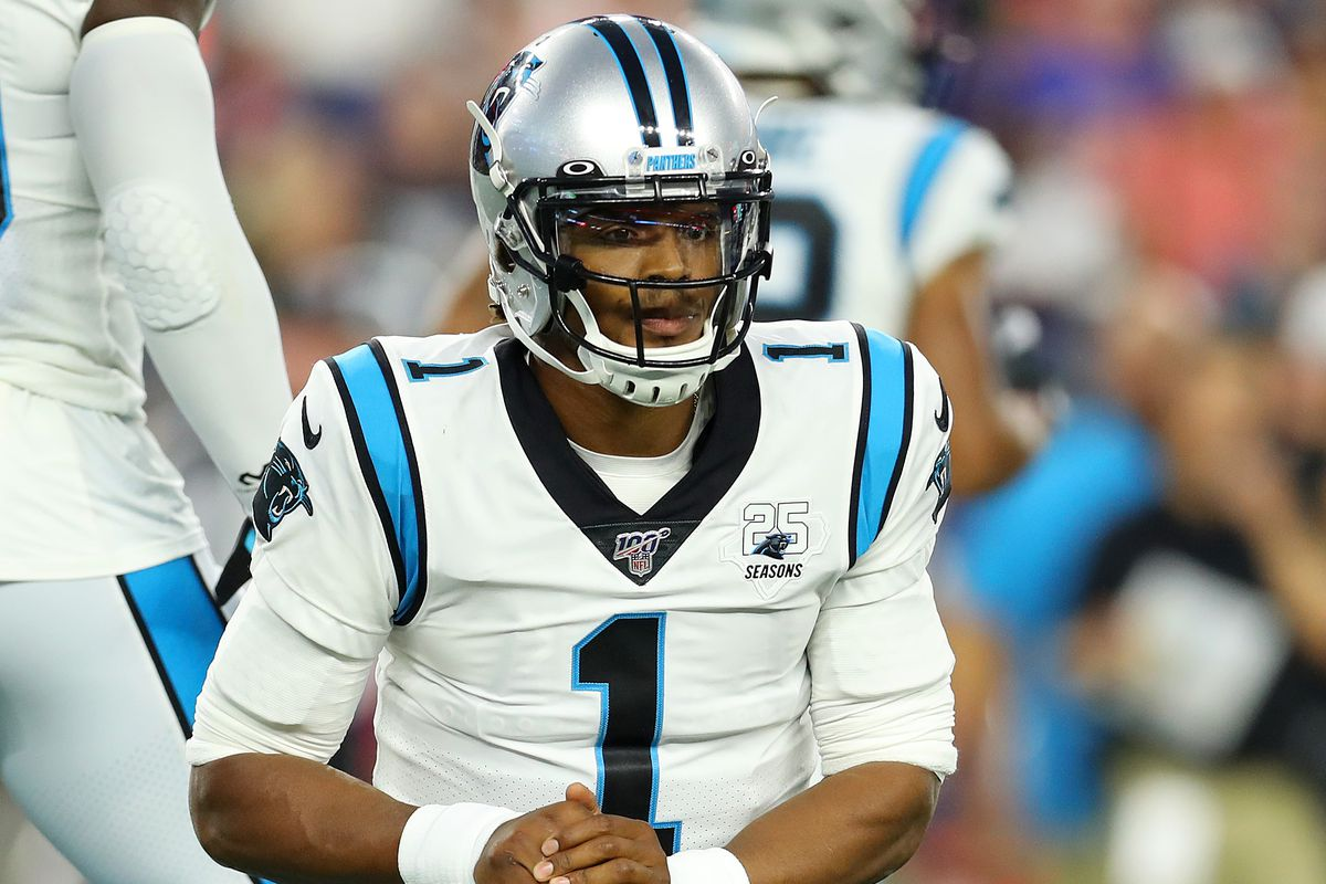Cam Newton Injury Update: the walking boot has already come off