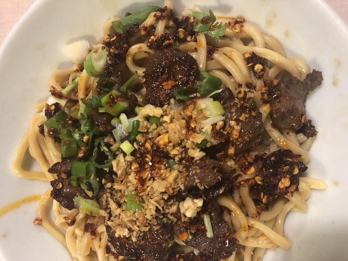 garlic noodles at yamo