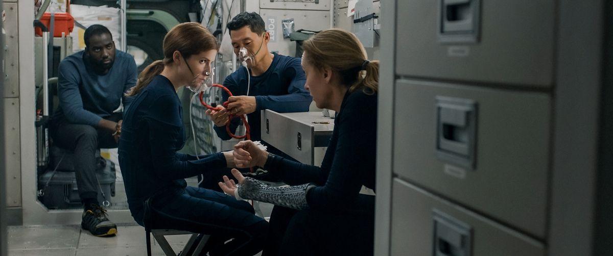 (Left-Right) SHAMIER ANDERSON as MICHAEL ADAMS, ANNA KENDRICK as ZOE LEVENSON, DANIEL DAE KIM as DAVID KIM and TONI COLLETTE as MARINA BARNETT.