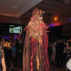 Some of the costumed people were also on stilts.