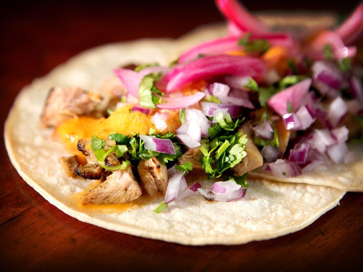 Chicken taco from Amelia's Taqueria