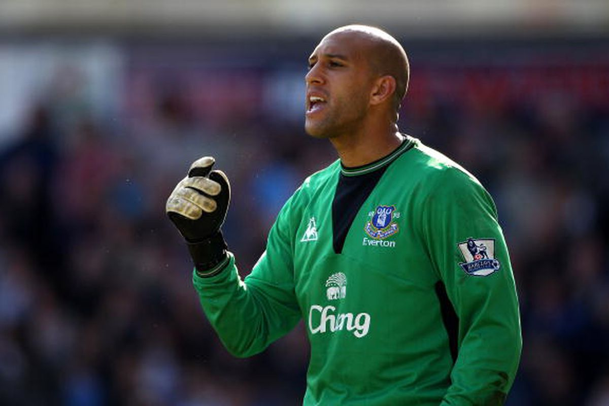 Tim Howard of Everton 4/17. Photo via Getty Images
