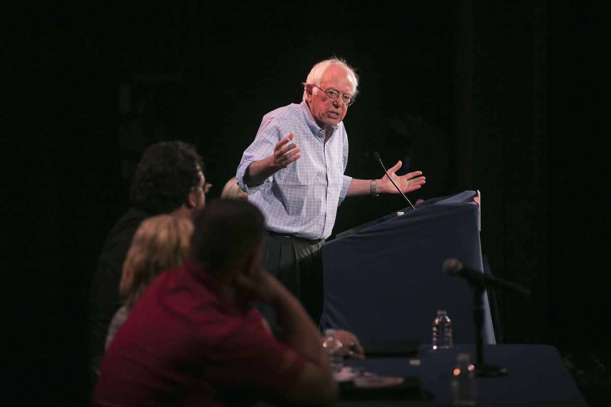 Sen. Bernie Sanders Holds Rally On Jobs, Health Care And The Economy
