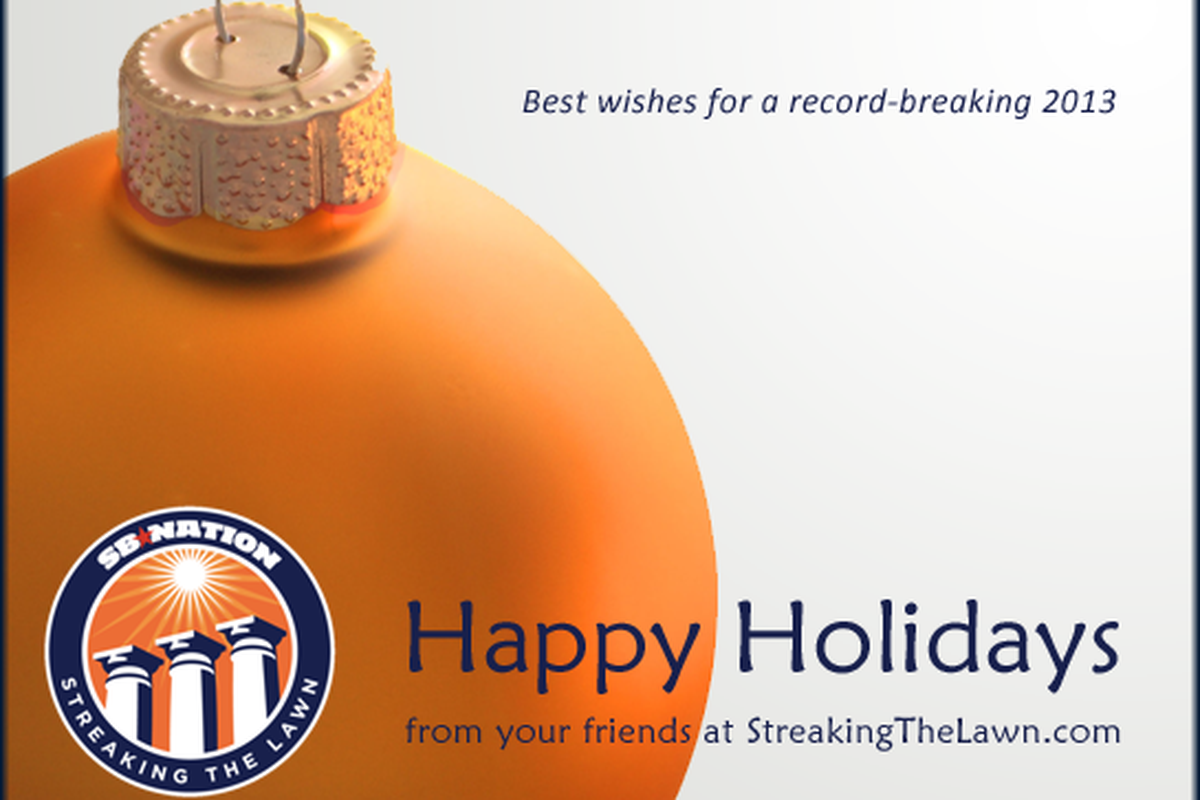 Happy Holidays from the Streaking The Lawn staff!