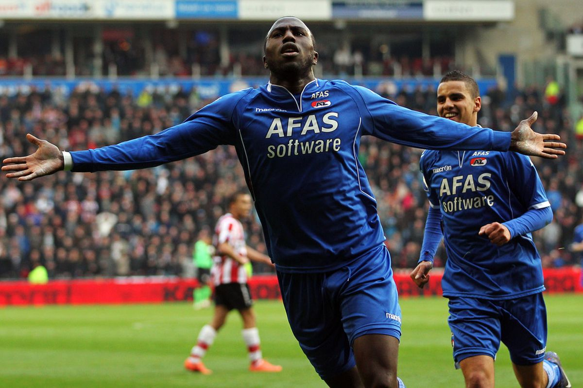 Jozy Altidore scored a hat trick for AZ Alkmaar.  (Dean Mouhtaropoulos/Getty Images)