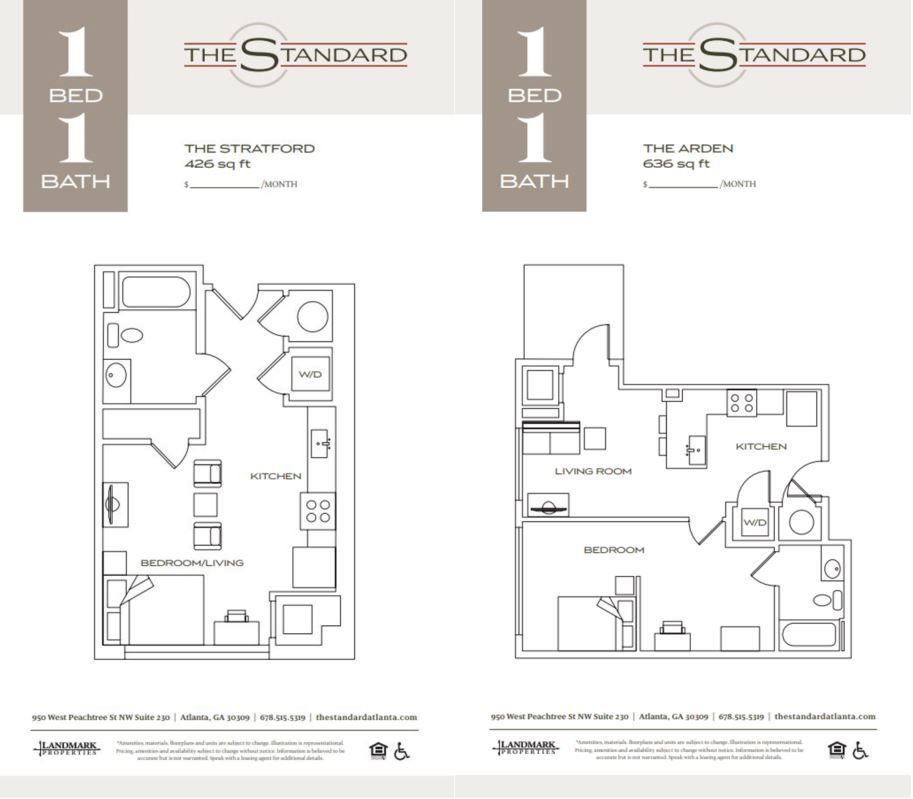 Floorplans Prices Released For The Standard South Of Tech Square Curbed Atlanta
