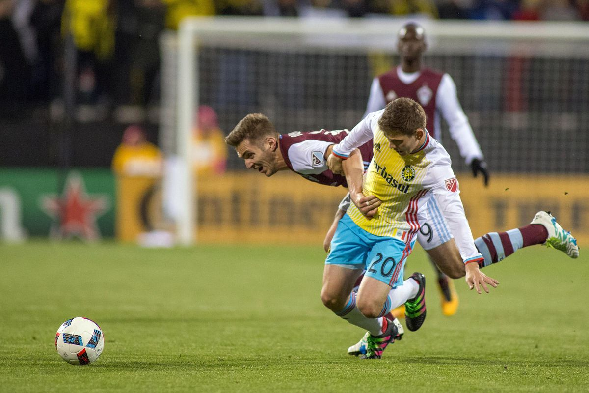 Wil Trapp and Columbus battled to a 1-1 draw with the Colorado Rapids on Saturday.