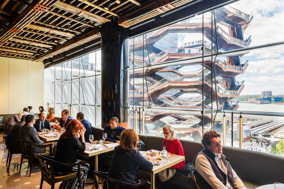 Overlooking shawarma-shaped Vessel sculpture at Hudson Yards