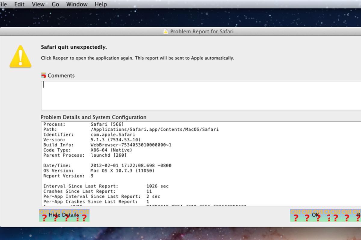 Mac OS X Lion errors