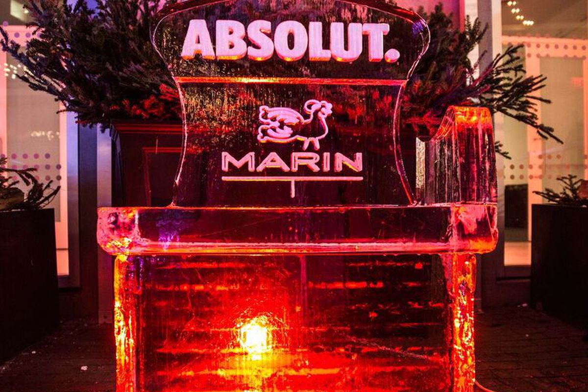 Fire and ice at the ice bar at marin eater twin cities so cool marin restaurant aloadofball Image collections