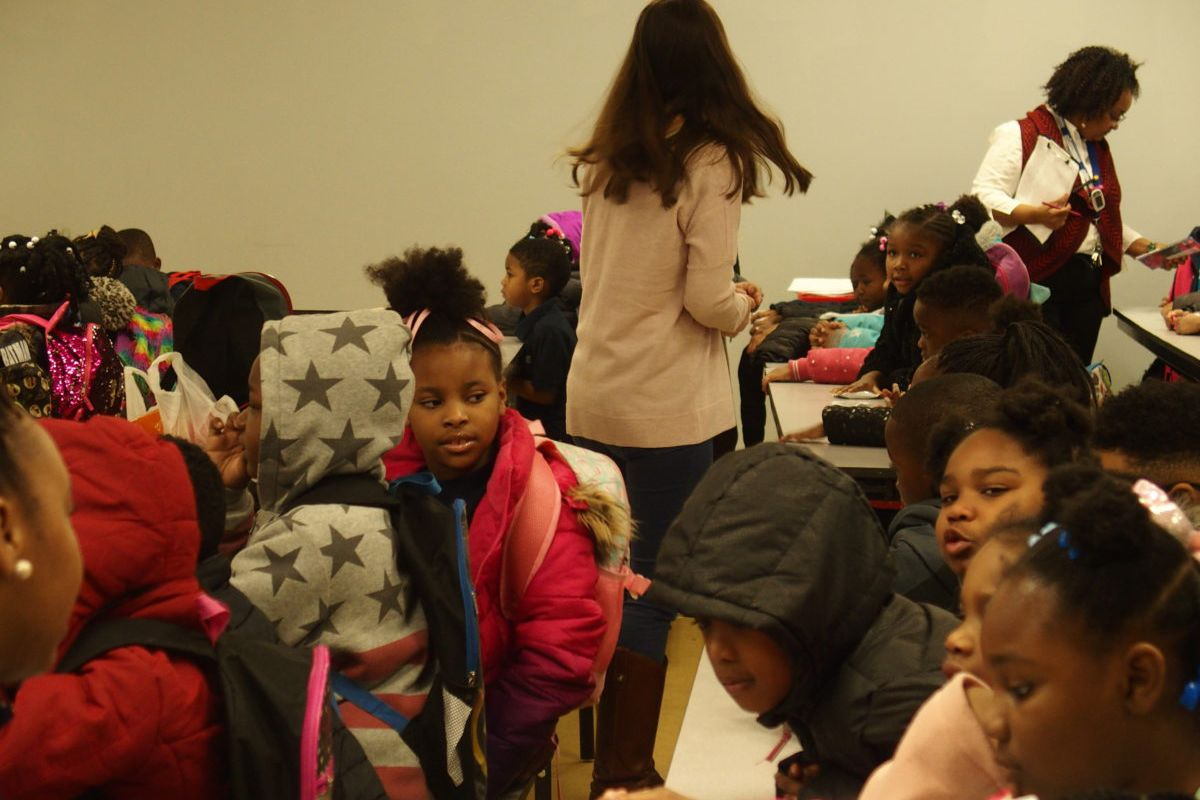 Students arrive for the start of the school day at Memphis Delta Preparatory, one of the charter schools in limbo after the school board deferred a closure vote in October 2018.