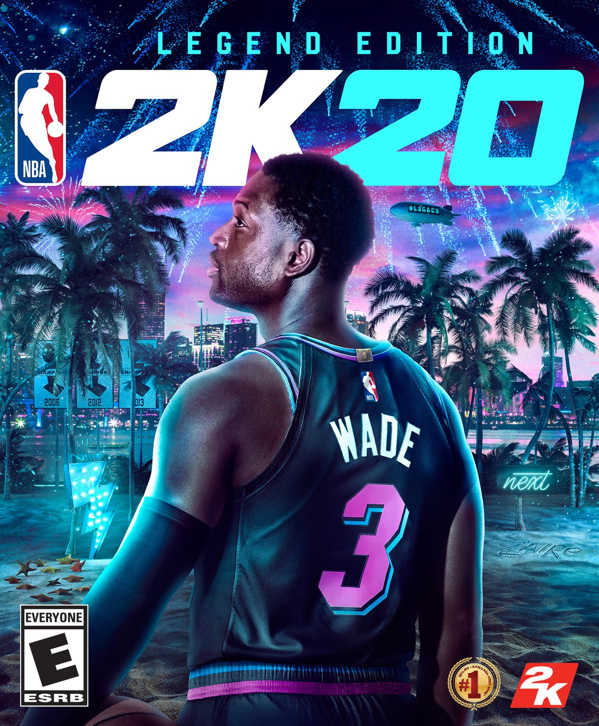 NBA 2K20 Legend Edition cover art featuring Dwyane Wade's back