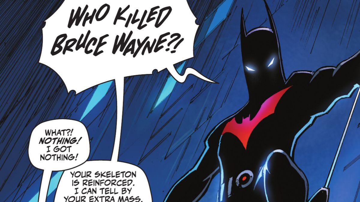 """Who killed Bruce Wayne?!"" roars Terry McGinnis/Batman in Batman: Urban Legends #7 (2021)."