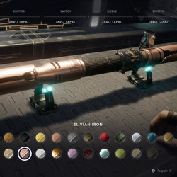 Silvian Iron lightsaber material