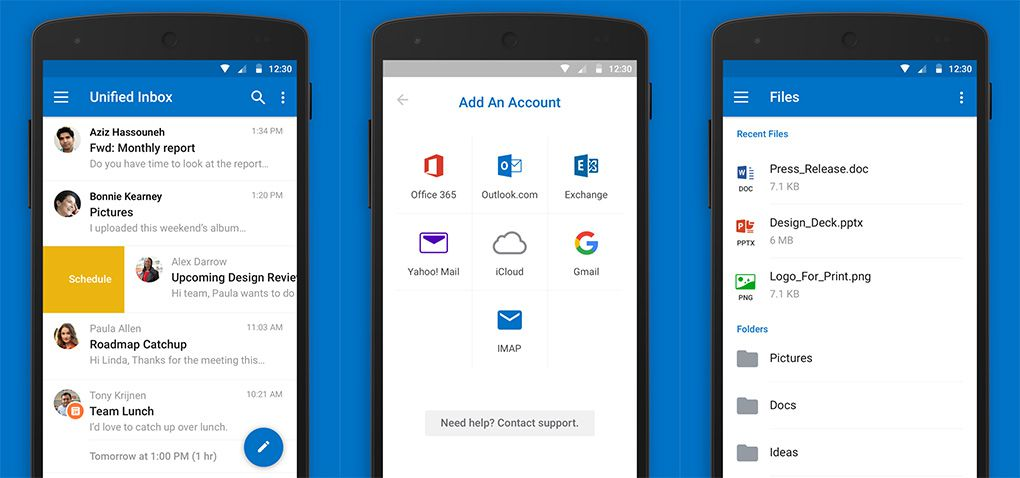 Outlook for Android update