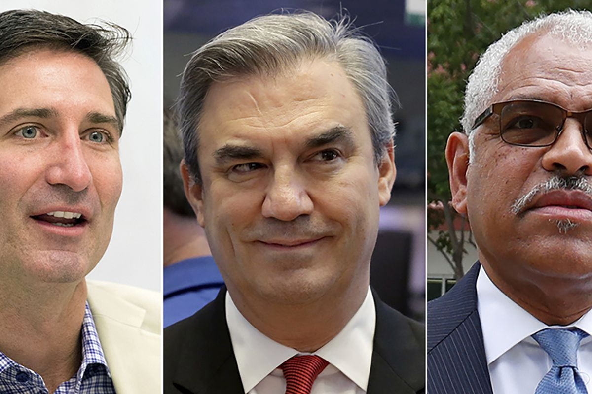 From left, Brian Niccol, CEO of Chipotle, Advance Auto Parts CEO Tom Greco, Carnival Corp. CEO Arnold Donald. Pay packages rose yet again in 2020 for the CEOs of the biggest U.S. companies, even though the pandemic sent the economy to its worst quarter on record and slashed corporate profits around the world.