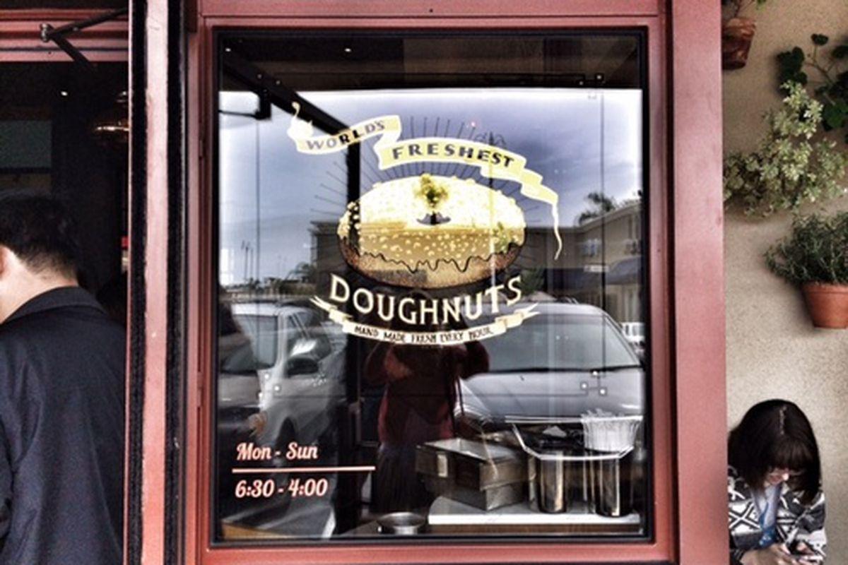Outside Sidecar Doughnuts, Costa Mesa.