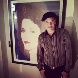 We ran into celeb stylist Phillip Bloch, who posed in front of Andy Warhol's portrait of Jane Fonda. Bloch raved to us about meeting the activist actress during this year's Academy Awards festivities.