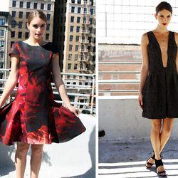 "<a href=""http://coolspotters.com/actresses/rooney-mara/and/brands/katharine-kidd#medium-1181433"">Rooney Mara</a>- and <a href=""http://katharinekidd.com/press/357x454/51fbf93943d51.jpg"">Emmy Rossum</a>-faved designer Katharine Kidd presented dark florals ("