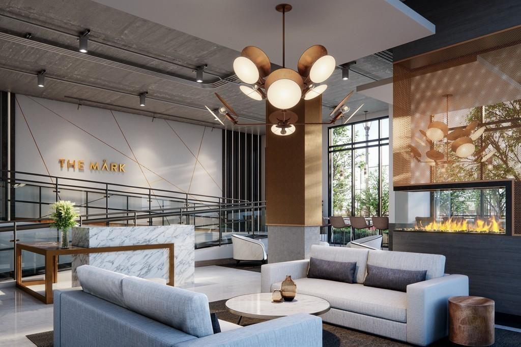 A capacious lobby rendering.