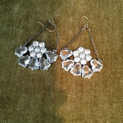 Large crystal and stone earrings, $75