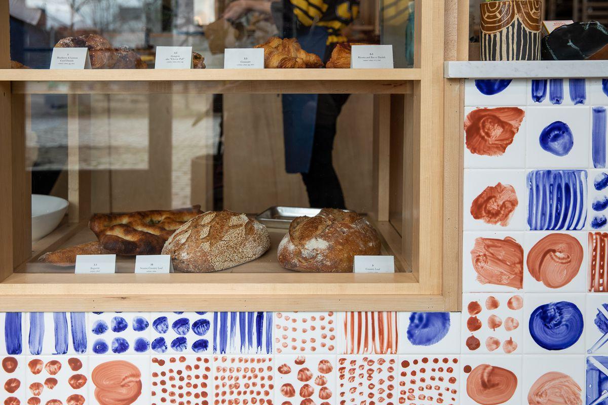 Loaves of bread in the Ochre case.