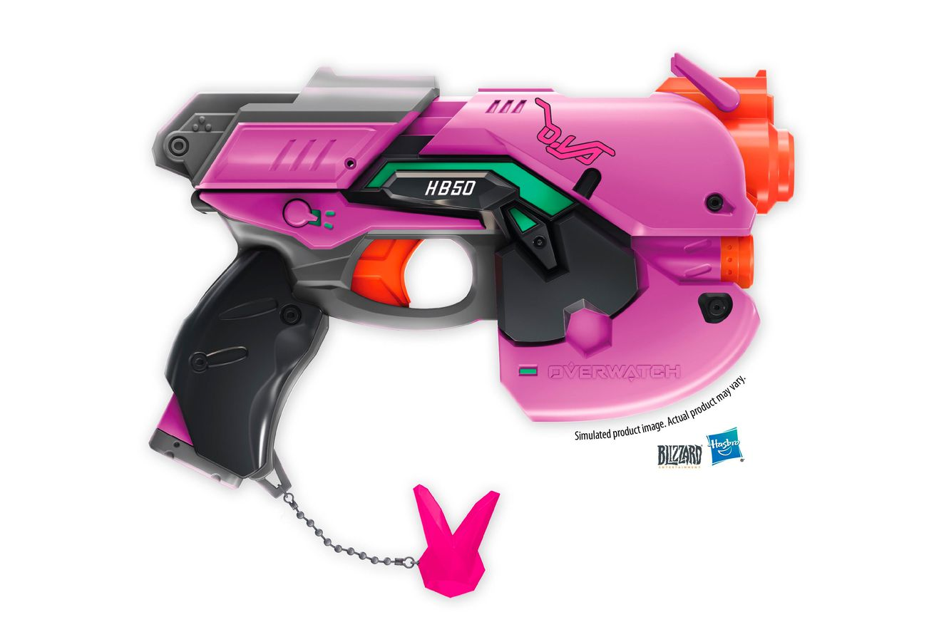 nerf is turning overwatch guns into foam shooting blasters