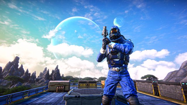 PlanetSide Arena - soldier holding a gun