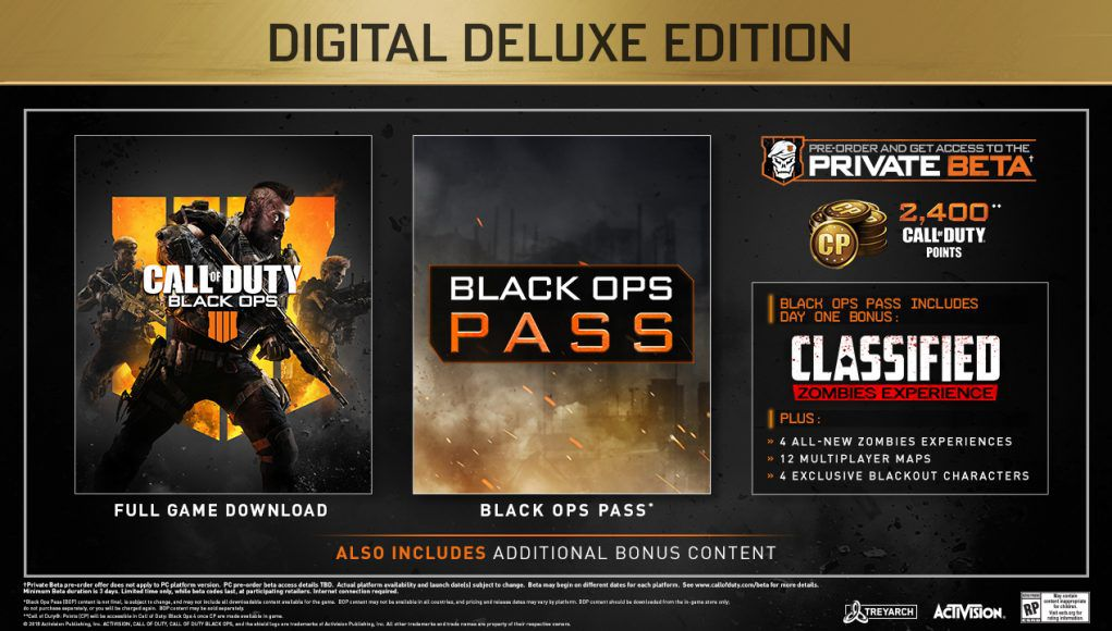 ps4 call of duty black ops 4 digital deluxe edition
