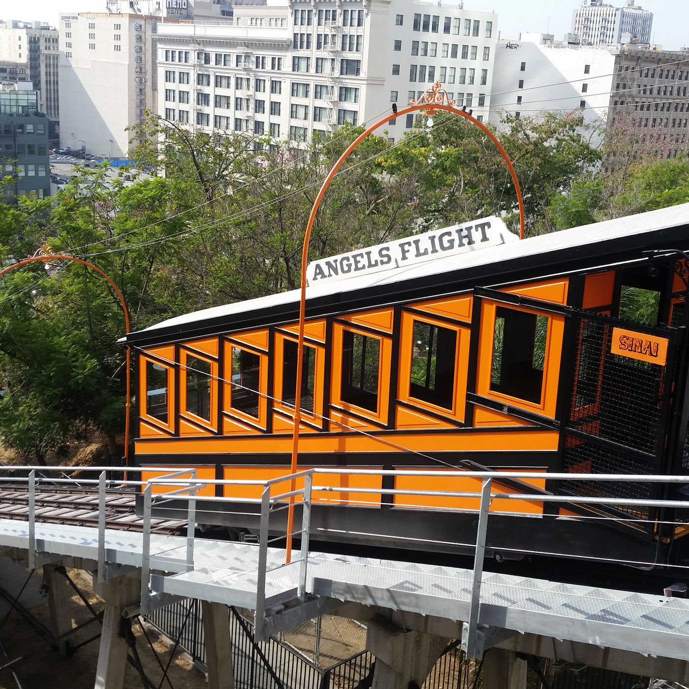 Angels Flight La S Historic Tiny Railway Opens Today Curbed La