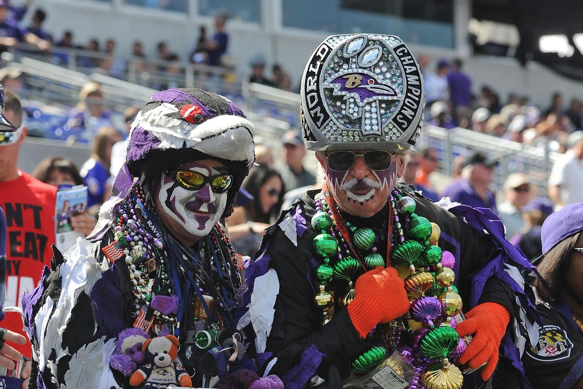 Ravens fans are indescribable.