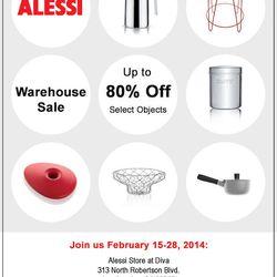 "Flyer <a href=""http://whsale.com/usa/2014/02/alessi-warehouse-sale-ca-february-2014"">via</a>"