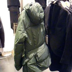 Down shaped jacket, back view. Note the curious bubble butt.
