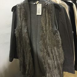 Joie cardigan with fur, $200
