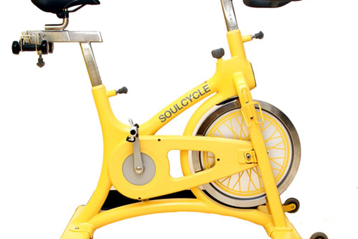"""The SoulCycle Bike, <a href=""""http://www.soul-cycle.com/the-soulcycle.cfm"""">$2200</a>"""