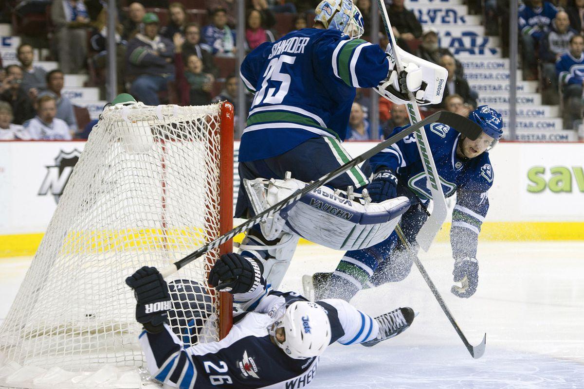 Schneider and the Canucks avoid a <em>real</em> slump.